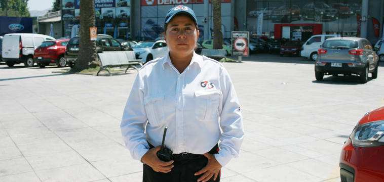 Margarita Farias, Guardia de Seguridad, Santiago de Chile, Chile
