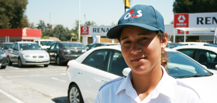 María Gonzales,  Guardia de Seguridad, Santiago de Chile