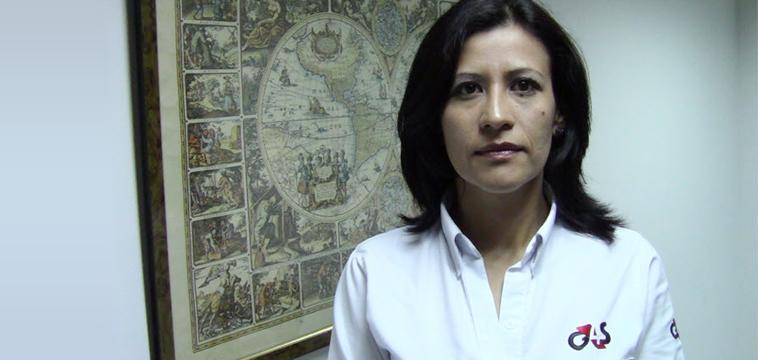 Yasmin Sanchez, Operadora de Medios de la Central de Vigilancia, Bogota Colombia