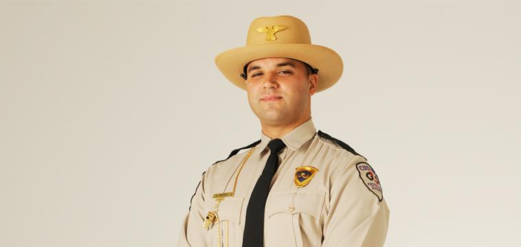 Expedy Tavares, Custom Protection Officer. Delray Beach, Florida.